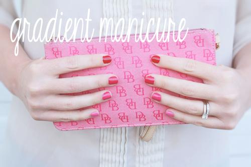 DIY gradient manicure