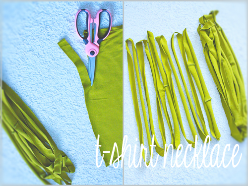Easy No-Sew T-Shirt Necklace Tutorial