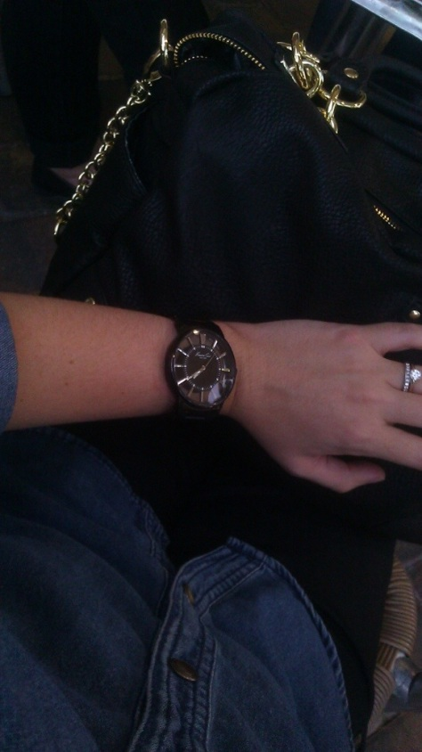 mens watch with denim shirt