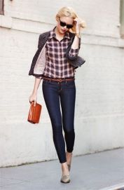 plaid shirt blazer