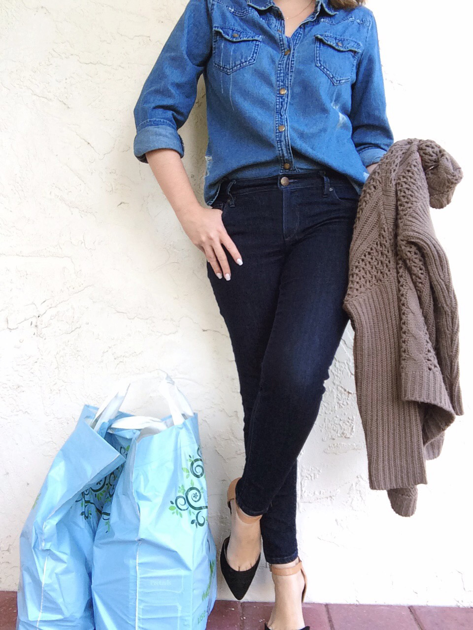 A Pretty Penny OOTD Double Denim