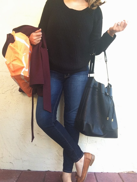 A Pretty Penny OOTD Black Sweater and Jeggings