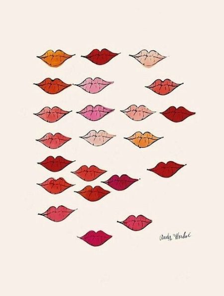 Stamped Lips, c. 1959 Art Print by Andy Warhol