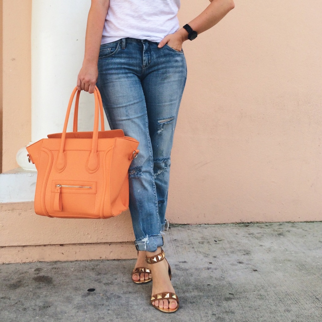A Pretty Penny Blog Blank Galaxy Jean Orange Handbag Personal Style