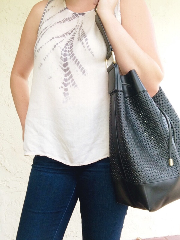 Vince Camuto Colby Leather Perforated Bag Hautelook