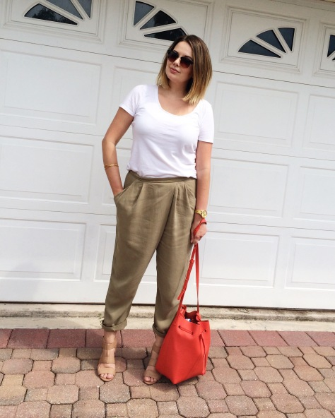 A Pretty Penny, Style Blog, Zara Crossover Pants, Everyday Style, OOTD