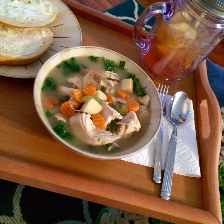Crockpot Chicken Soup For the Soul (Or aCold)