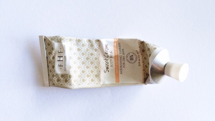 Keira Lennox Beauty Empties Farmhouse Fresh Sweet Cream Body Milk