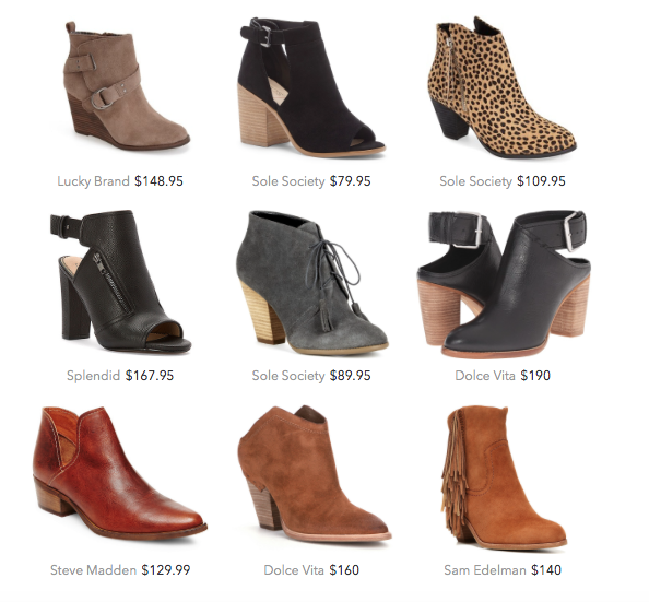 Booties for Fall 2015