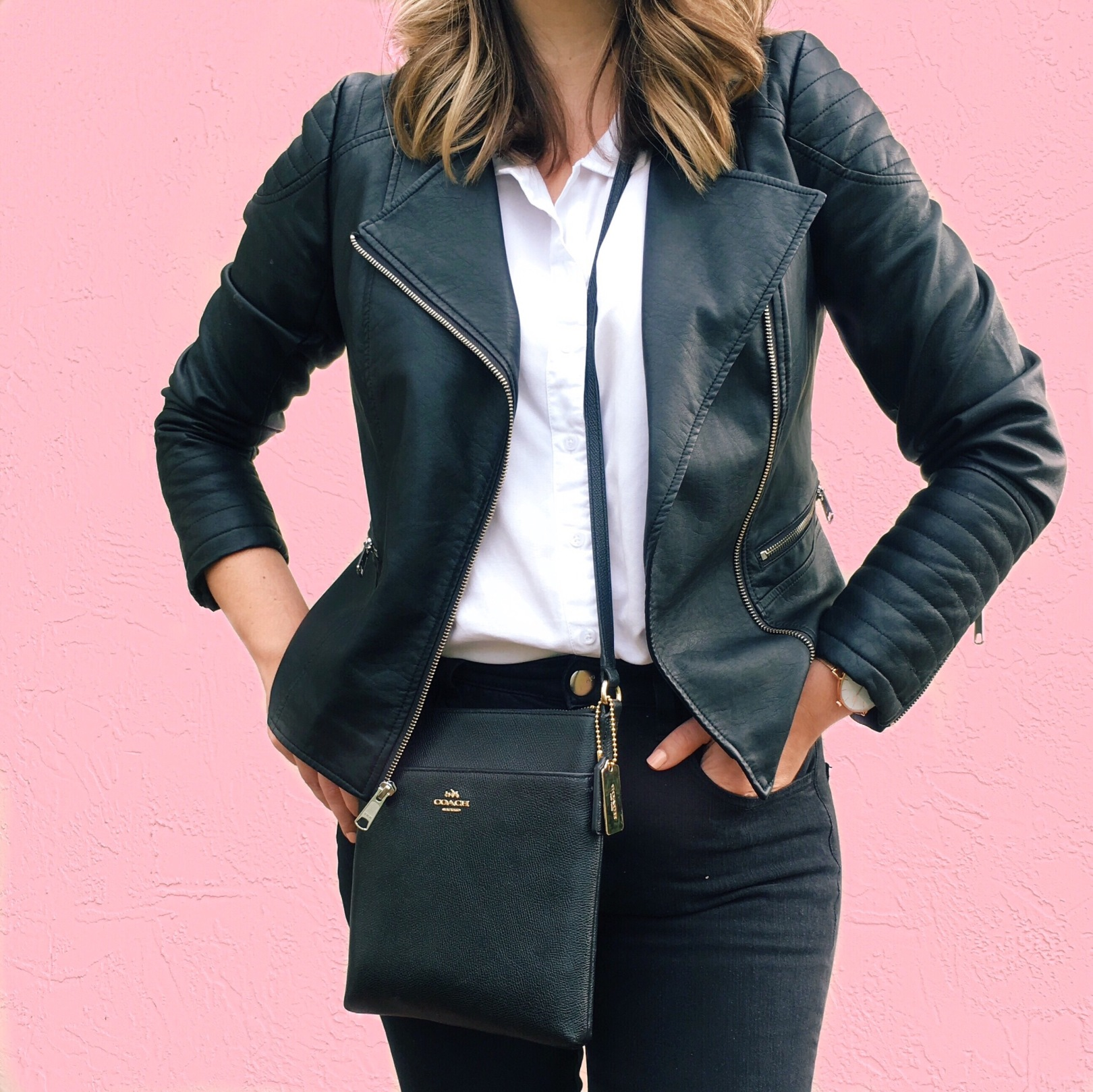 Faux Leather Biker Jacket, Wardrobe Staples, Capsule Wardrobe, Style Blog, Budget Style