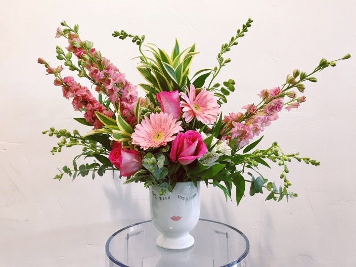 Accent Decor Celfie Vase Floral Design